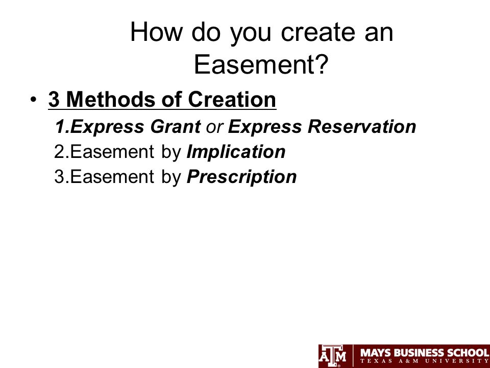 How do you create an Easement.