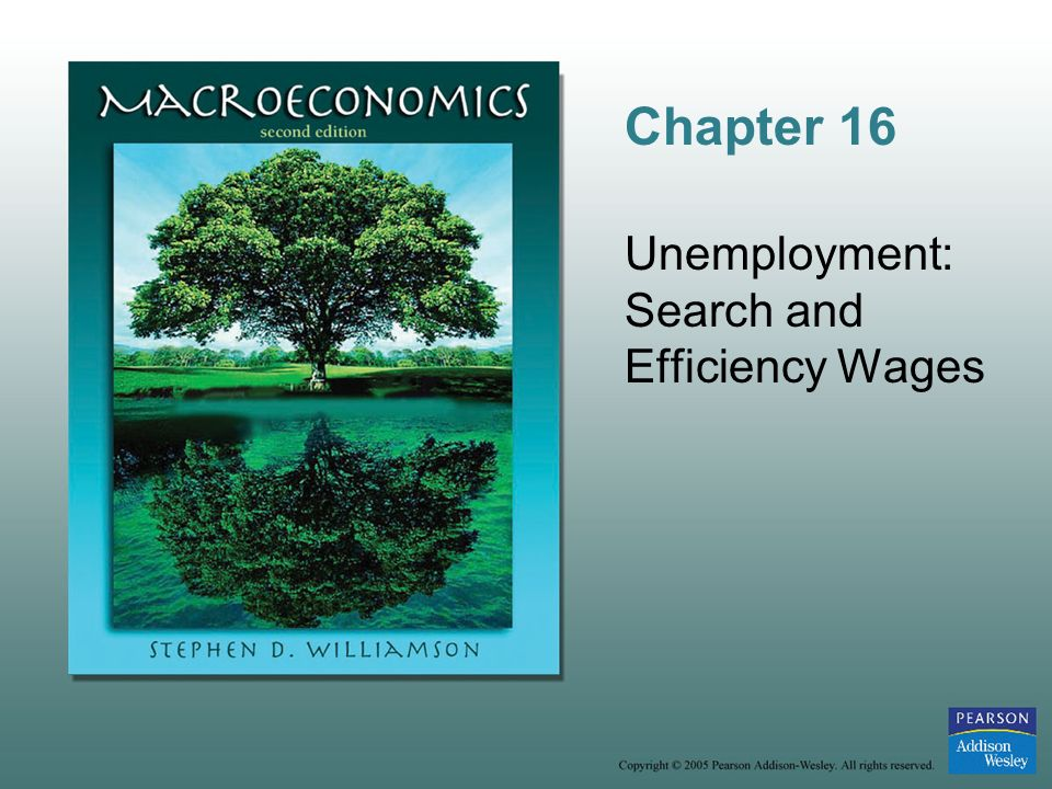 Chapter 16 Unemployment: Search and Efficiency Wages