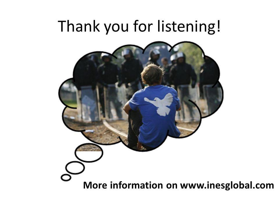 Thank you for listening! More information on