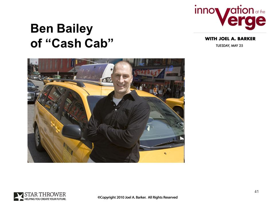 Ben Bailey of Cash Cab 41