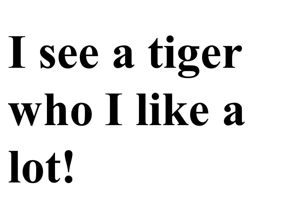 I see a tiger who I like a lot!