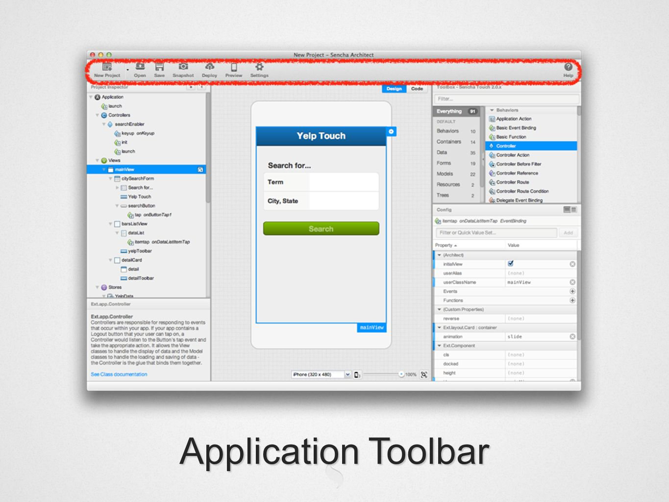 Application Toolbar