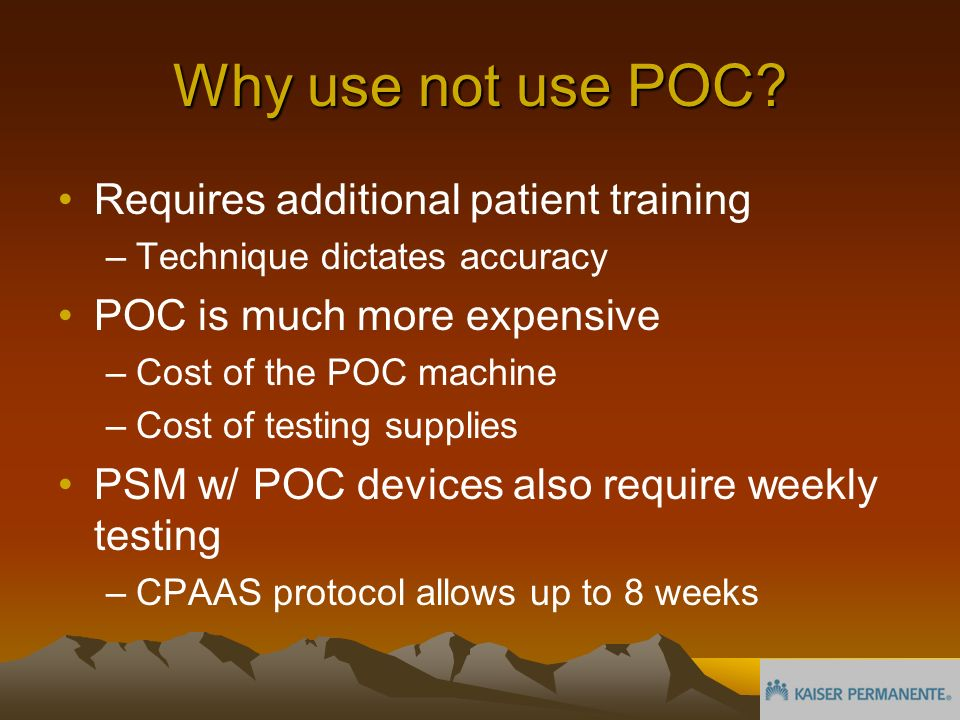 Why use not use POC.