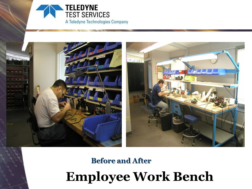 Before and After Employee Work Bench