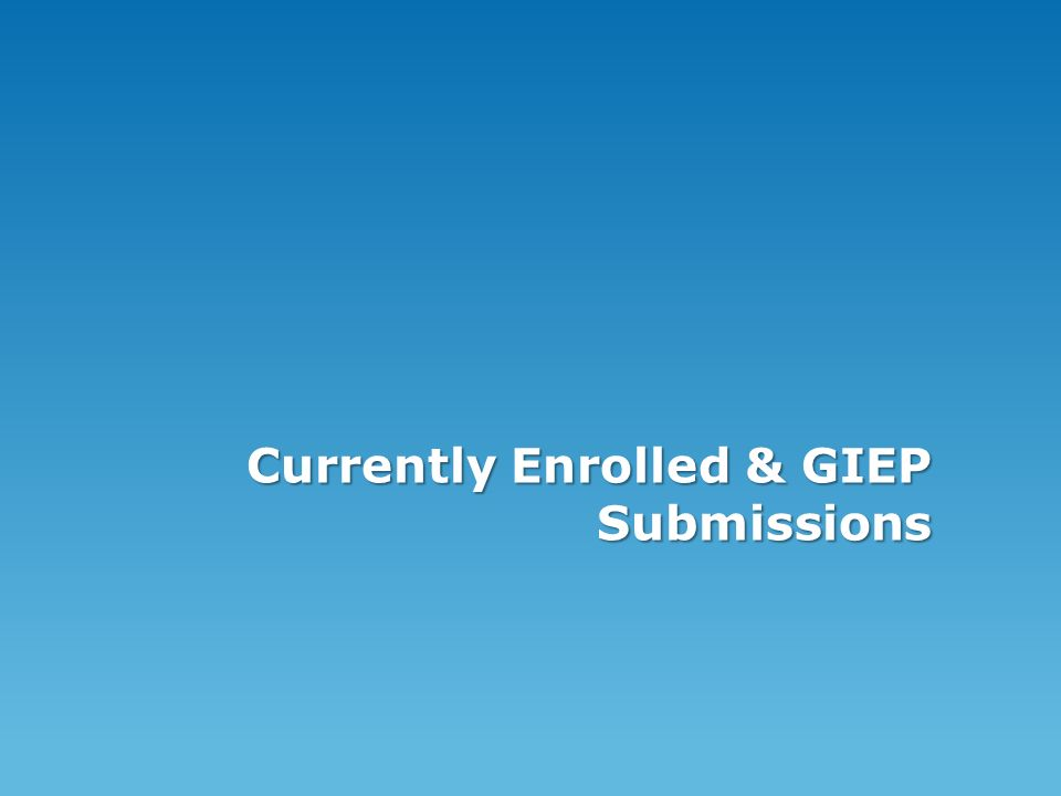 Currently Enrolled & GIEP Submissions