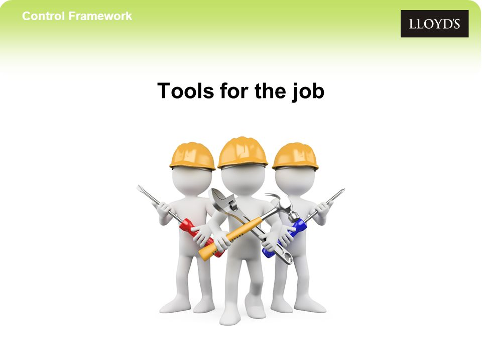Control Framework Tools for the job