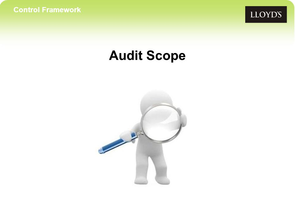 Control Framework Audit Scope