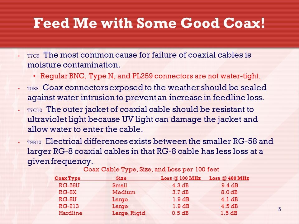 8 Feed Me with Some Good Coax.