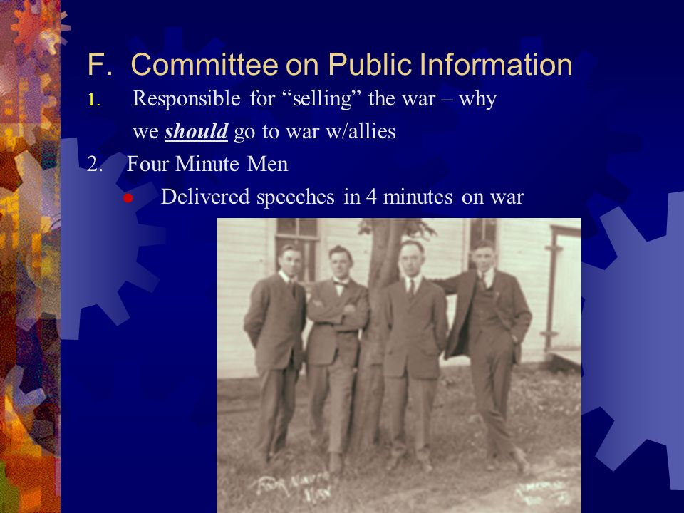 F. Committee on Public Information 1.