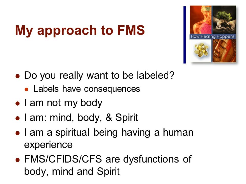 My approach to FMS Do you really want to be labeled.
