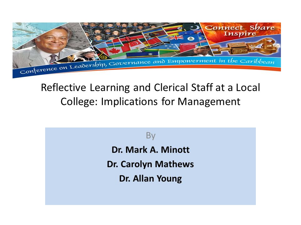 Reflective Learning and Clerical Staff at a Local College: Implications for Management By Dr.