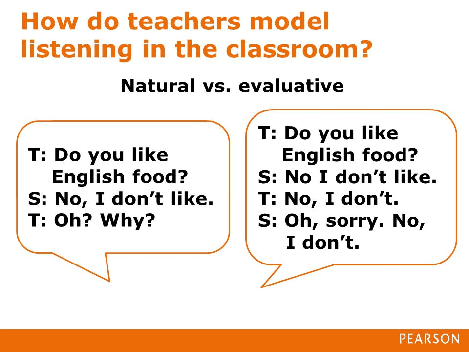 How do teachers model listening in the classroom. Natural vs.