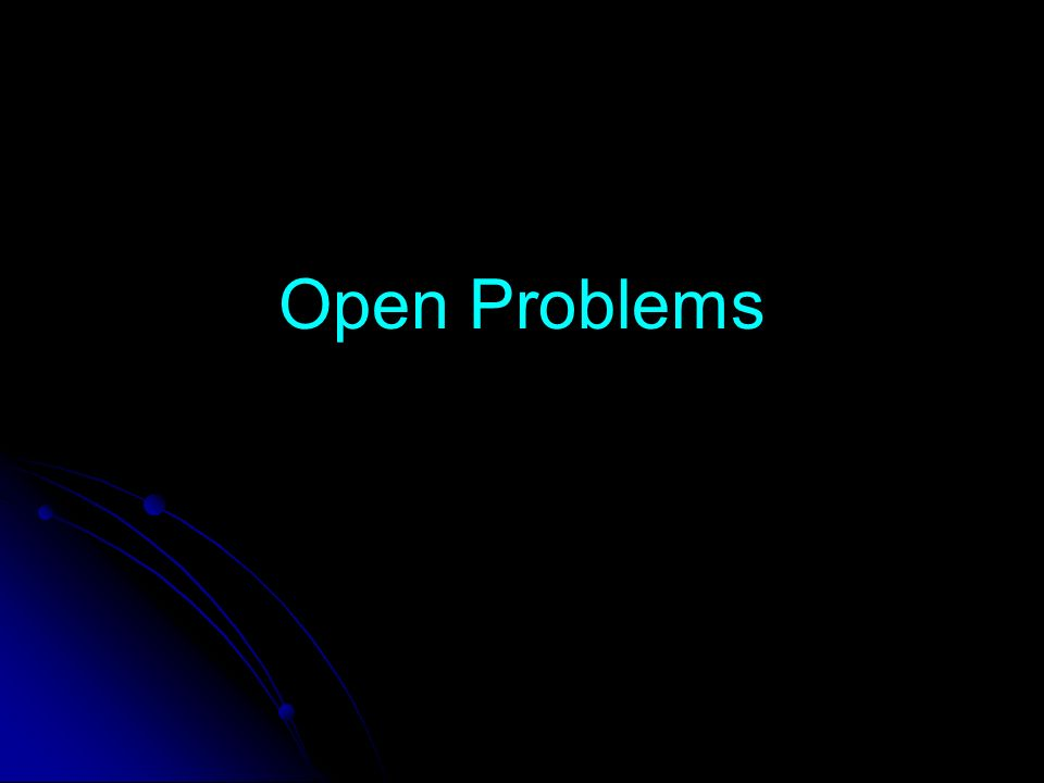 Open Problems