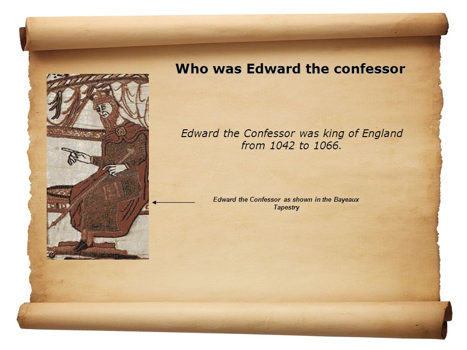 Edward the Confessor was king of England from 1042 to 1066.