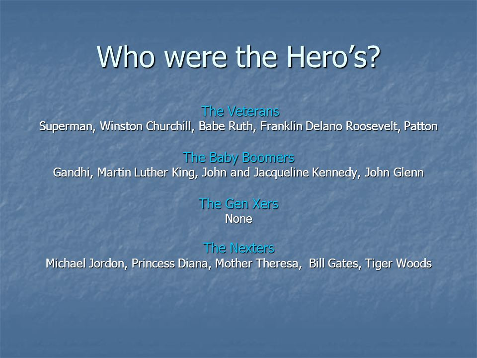 Who were the Heros.