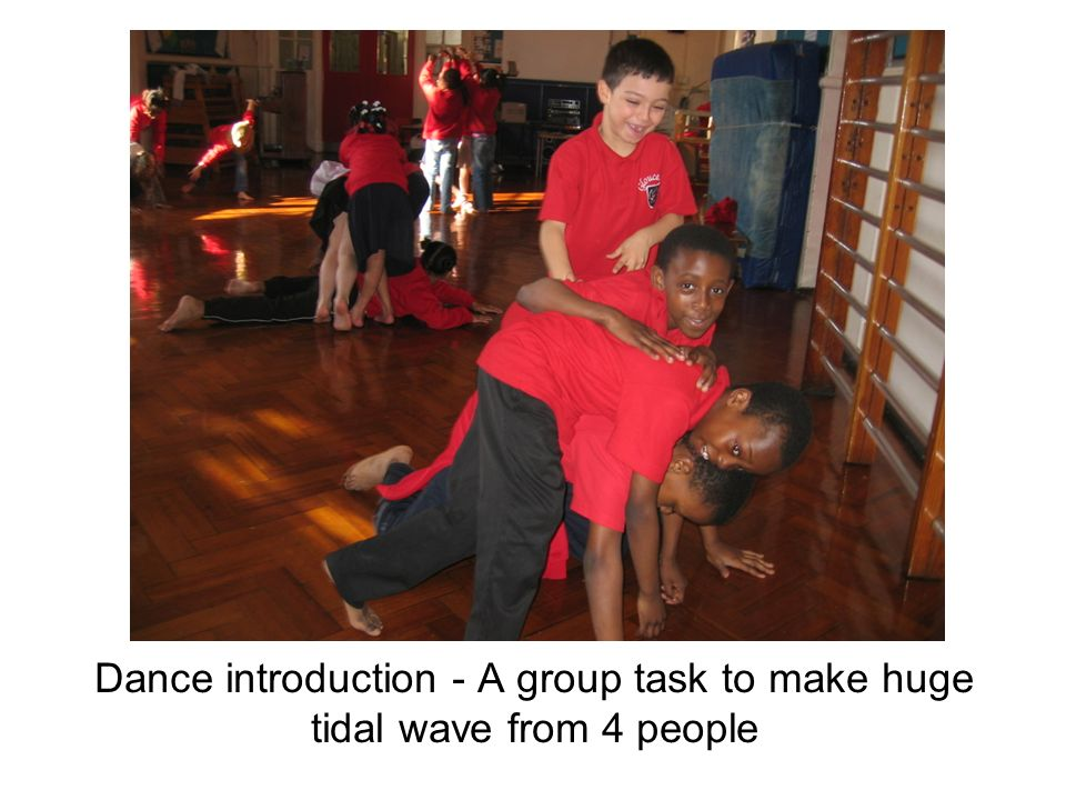 Dance introduction - A group task to make huge tidal wave from 4 people