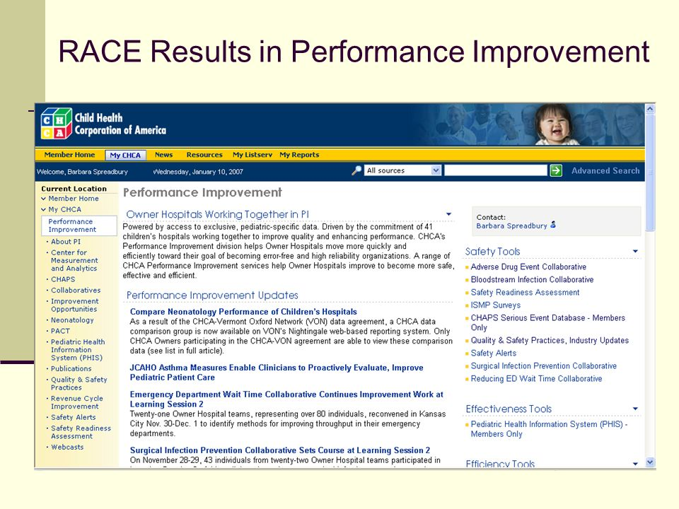 RACE Results in Performance Improvement
