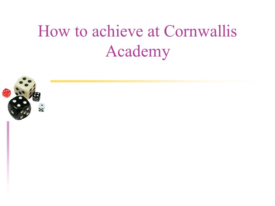 How to achieve at Cornwallis Academy