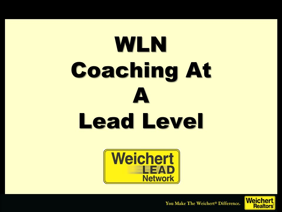 WLN Coaching At A Lead Level