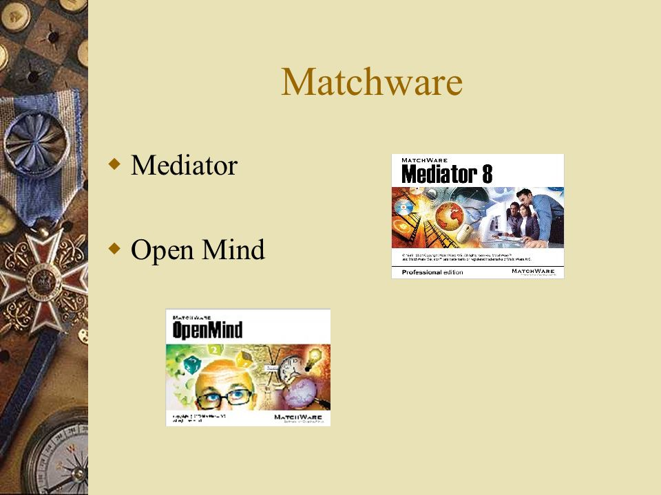 Matchware Mediator Open Mind
