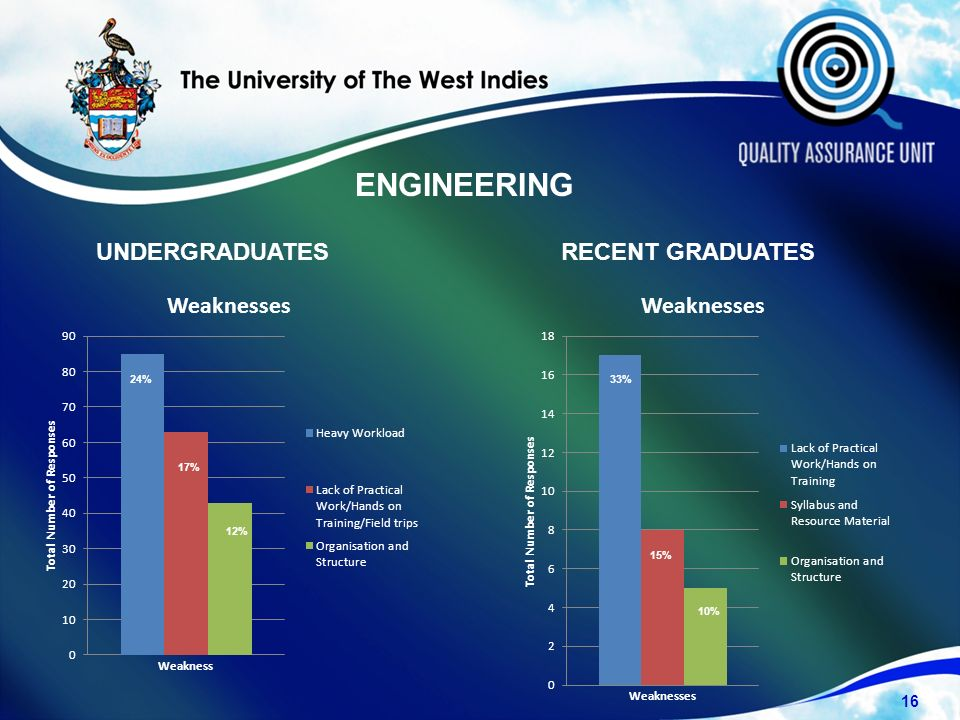 UNDERGRADUATESRECENT GRADUATES 16 24% 17% 12% 10% 15% 33% ENGINEERING