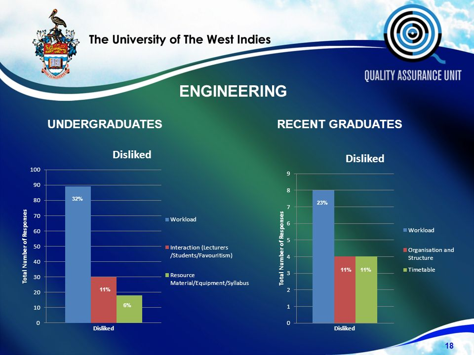 UNDERGRADUATESRECENT GRADUATES 18 32% 11% 6% 23% 11% ENGINEERING