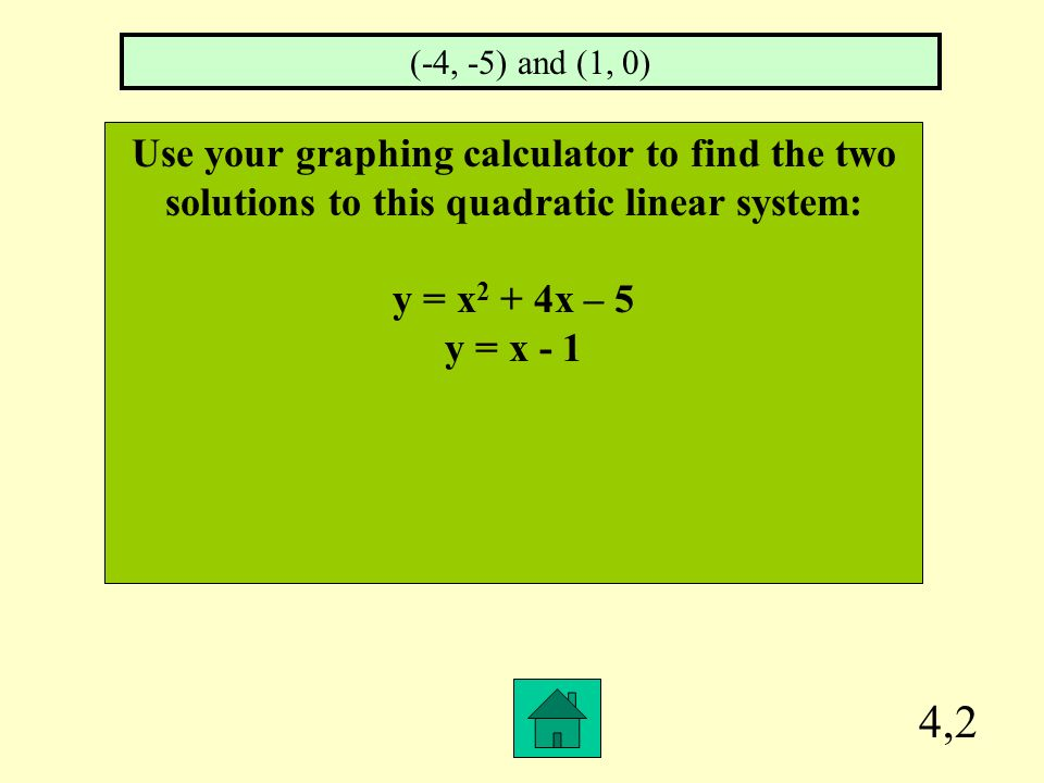 4,1 For which quadratic equation is the axis of symmetry x = 3.