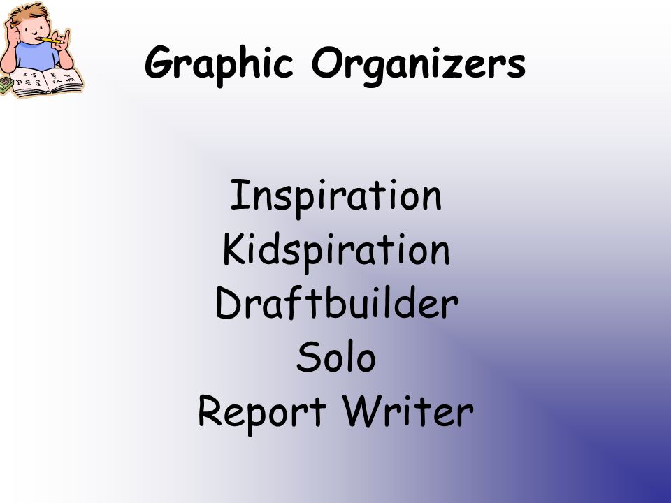 Graphic Organizers Inspiration Kidspiration Draftbuilder Solo Report Writer