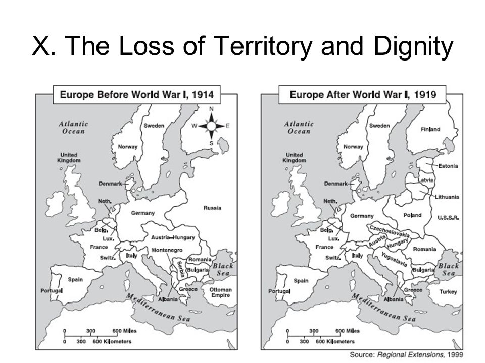 X. The Loss of Territory and Dignity