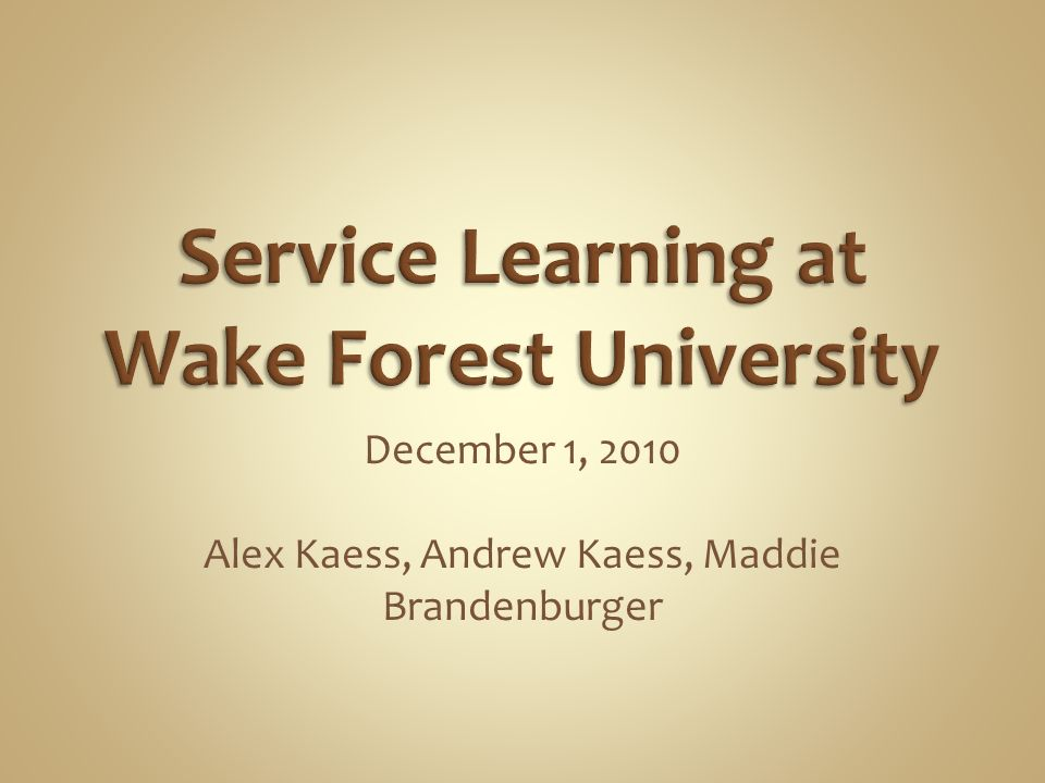 December 1, 2010 Alex Kaess, Andrew Kaess, Maddie Brandenburger