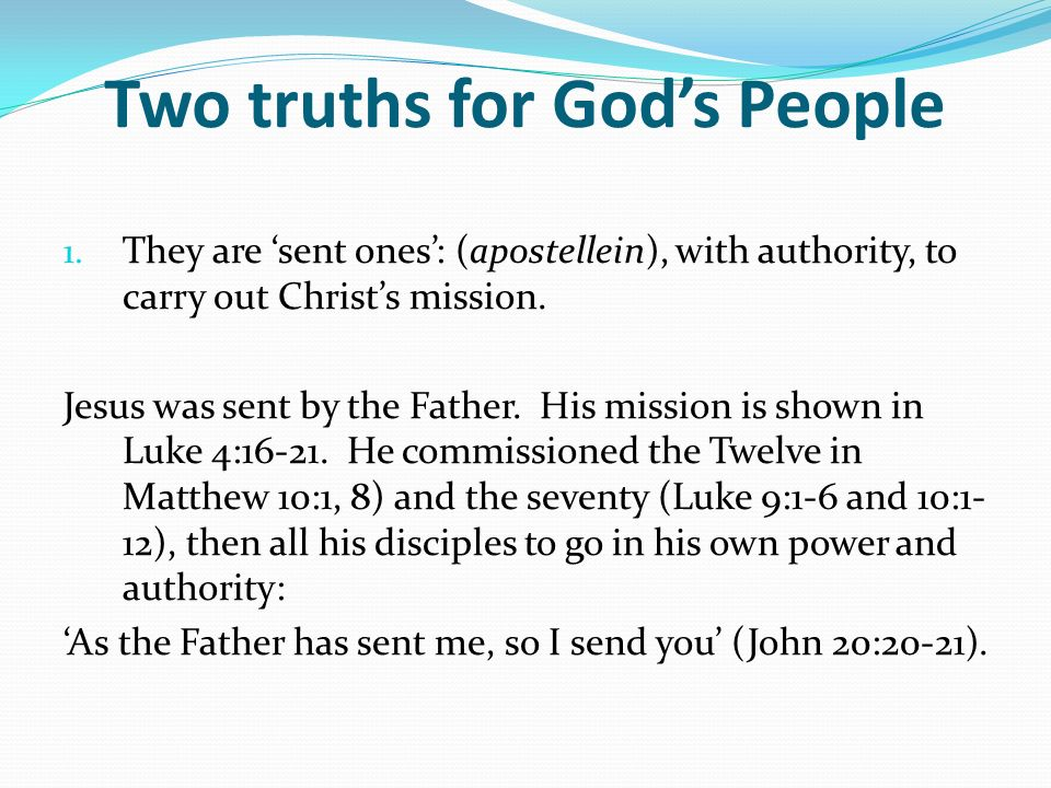Two truths for Gods People 1.