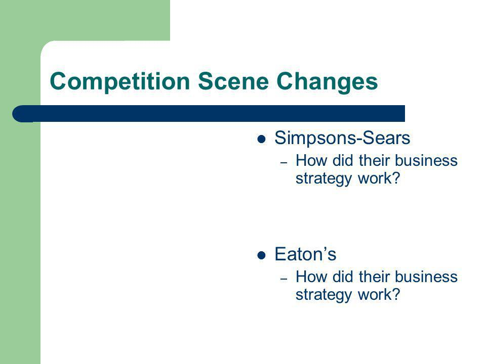 Competition Scene Changes Simpsons-Sears – How did their business strategy work.
