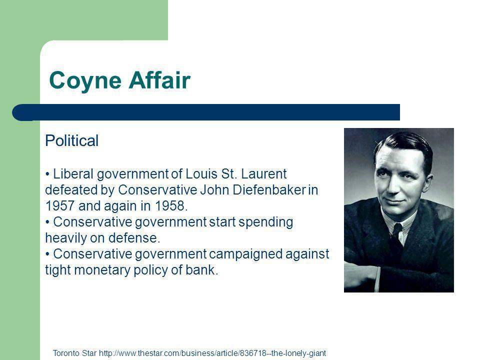 Coyne Affair Political Liberal government of Louis St.