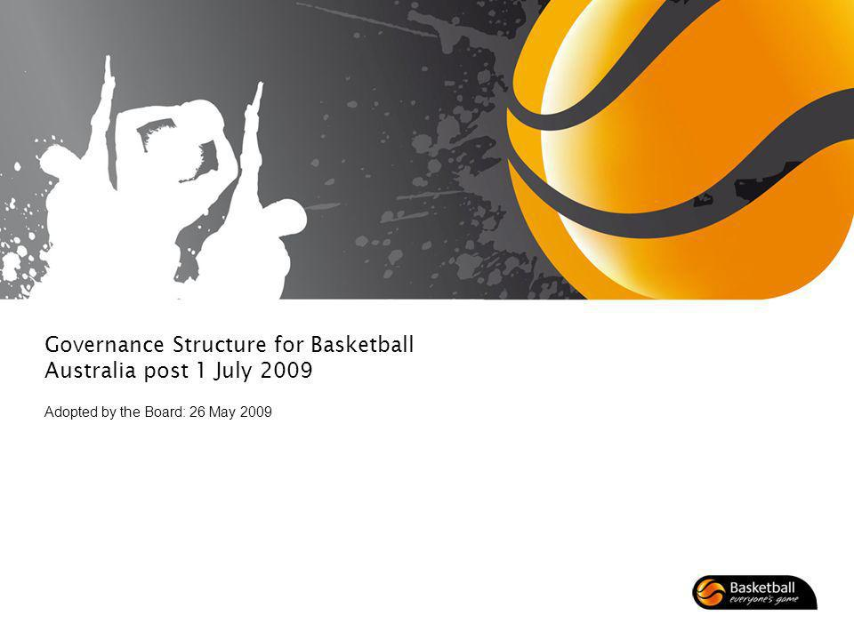 Governance Structure for Basketball Australia post 1 July 2009 Adopted by the Board: 26 May 2009
