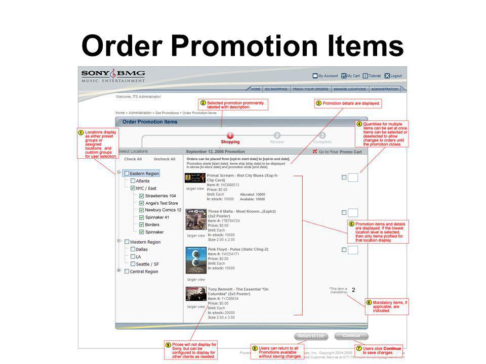 Order Promotion Items