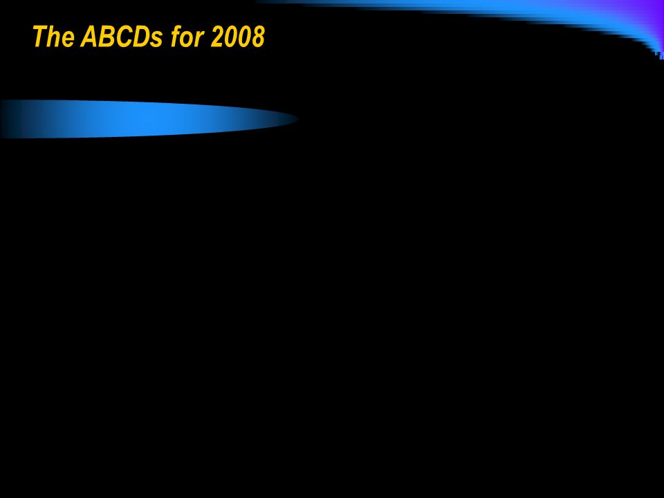 The ABCDs for 2008