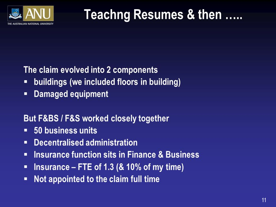 11 Teachng Resumes & then …..
