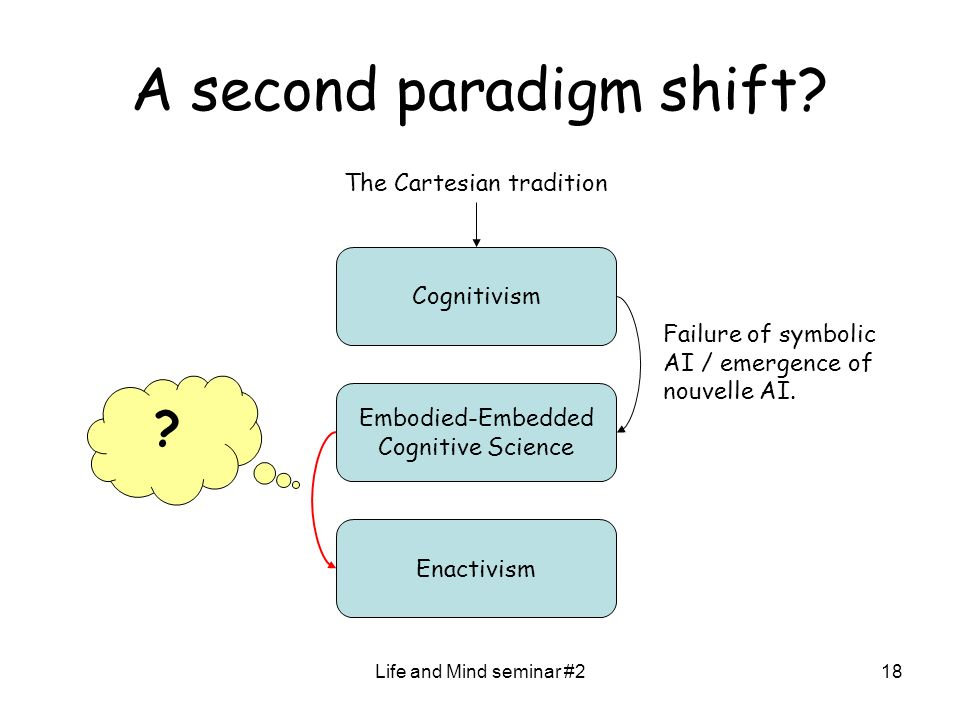 Life and Mind seminar #218 A second paradigm shift.
