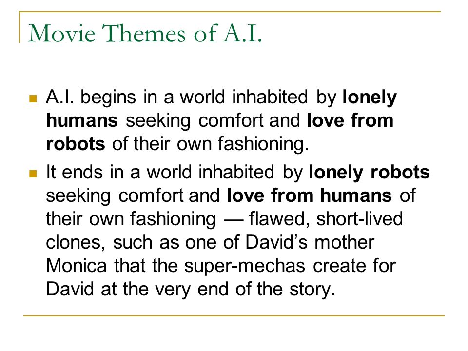 Movie Themes of A.I. A.I.
