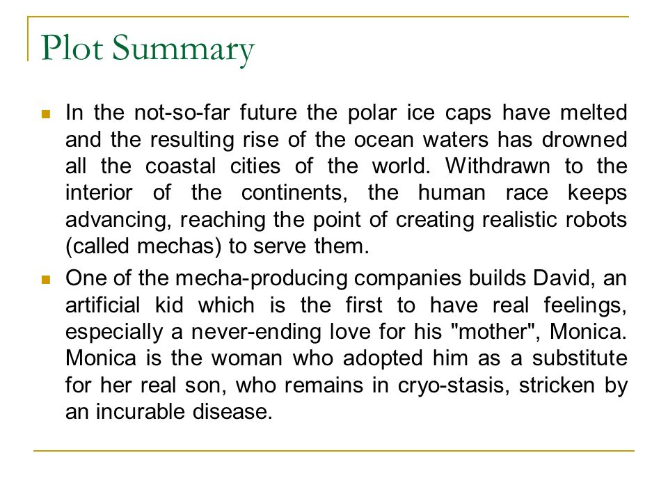 Plot Summary In the not-so-far future the polar ice caps have melted and the resulting rise of the ocean waters has drowned all the coastal cities of the world.