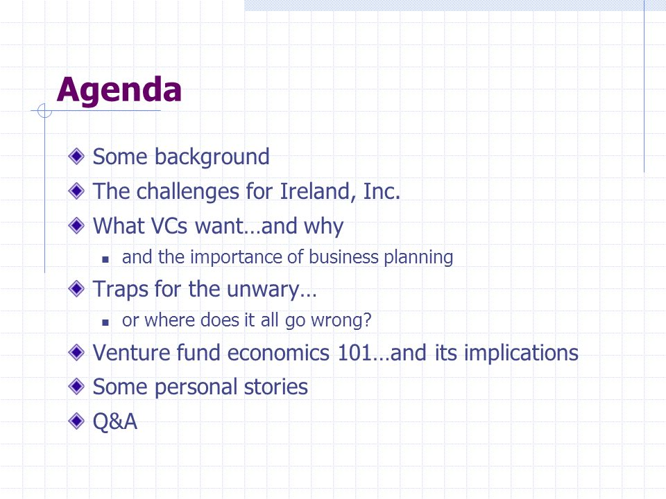 Agenda Some background The challenges for Ireland, Inc.