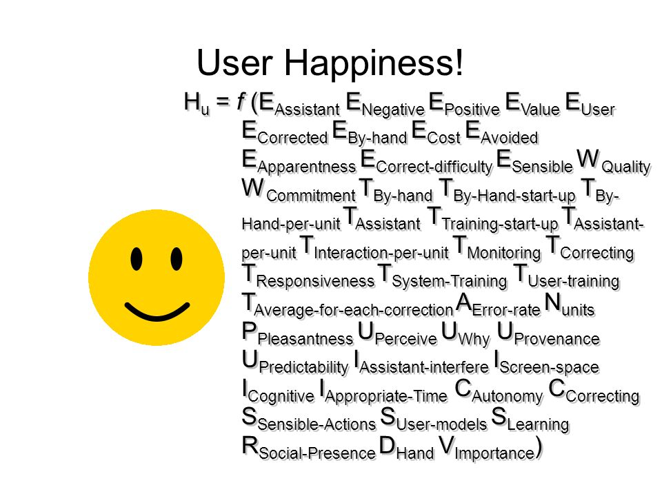 User Happiness.