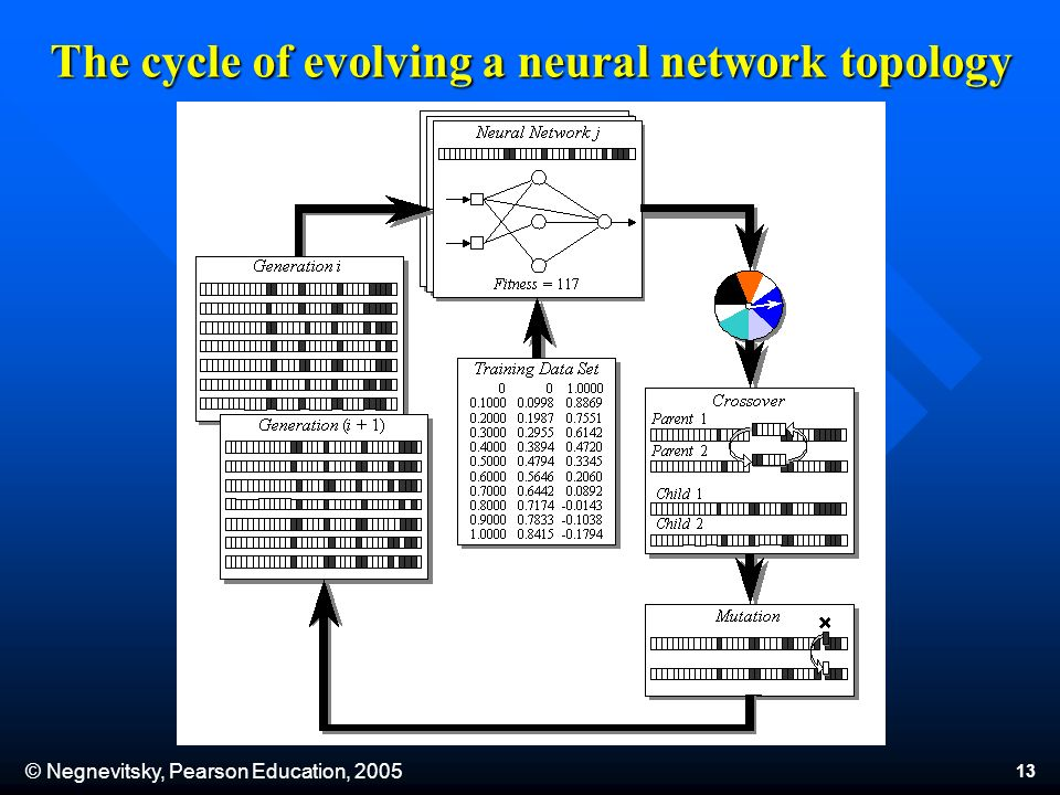 © Negnevitsky, Pearson Education, The cycle of evolving a neural network topology