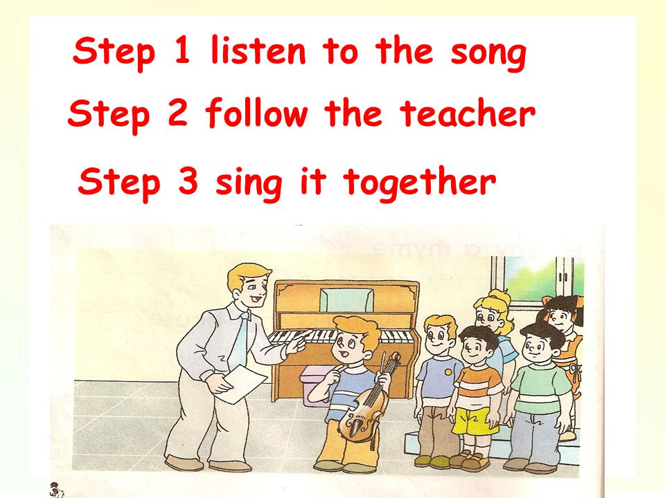 Mr Green: Shall we learn the song We can sing and dance now.