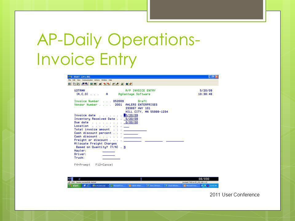AP-Daily Operations- Invoice Entry 2011 User Conference