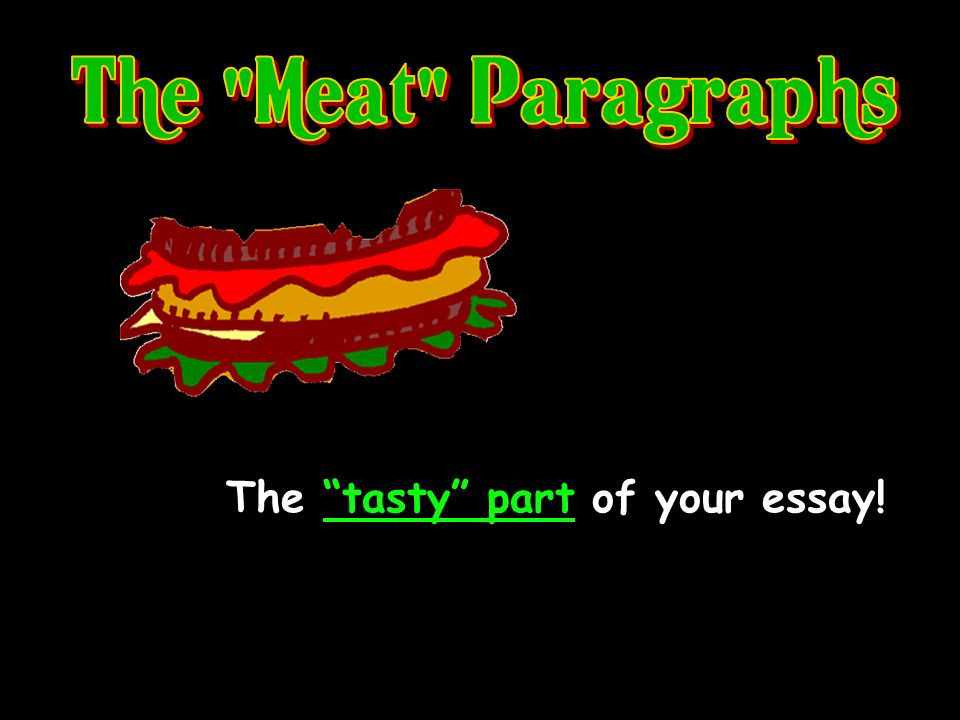 The tasty part of your essay!