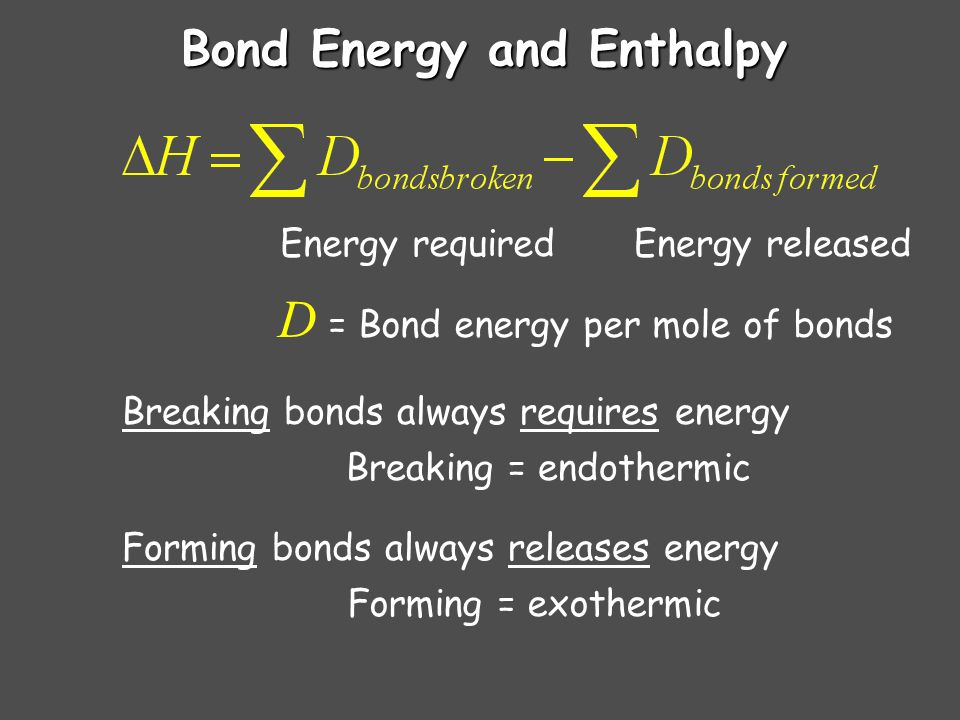 Bond Length and Energy BondBond type Bond length (pm) Bond Energy (kJ/mol) C - CSingle154347 C = CDouble134614 C Triple120839 C - OSingle143358 C = ODouble123745 C - NSingle143305 C = NDouble138615 C NTriple116891 Bonds between elements become shorter and stronger as multiplicity increases.