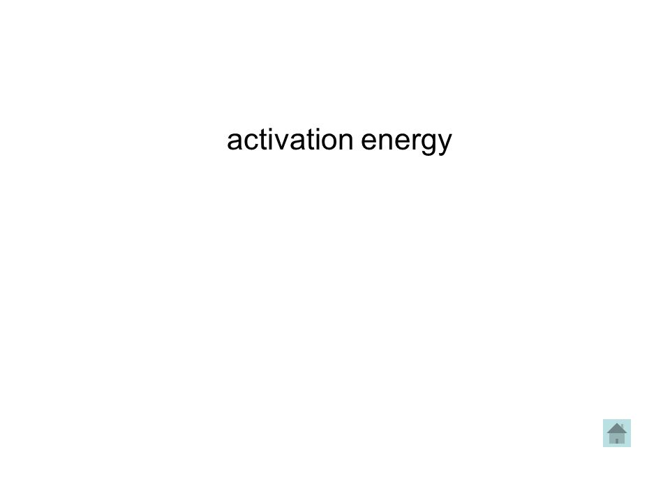 activation energy