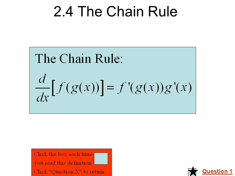 2.4 The Chain Rule Question 1