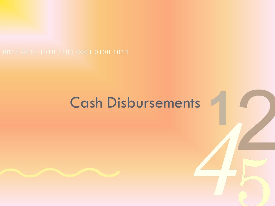 Cash Disbursements